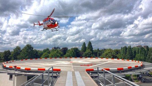 Bergmannsheil Buer Hubschrauberlandung DRF